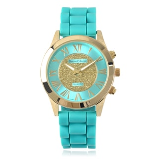 Journee Collection Women's Quartz Roman Numeral Silicone Strap Watch