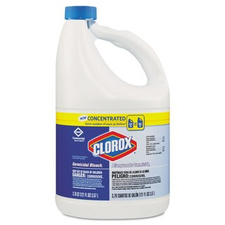 Clorox Concentrated Germicidal Bleach, Regular, 121oz Bottle, 3/Carton