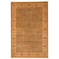 Herat Oriental Indo Hand-knotted Persian Mahal Wool Rug (6' x 9') - 6' x 9'