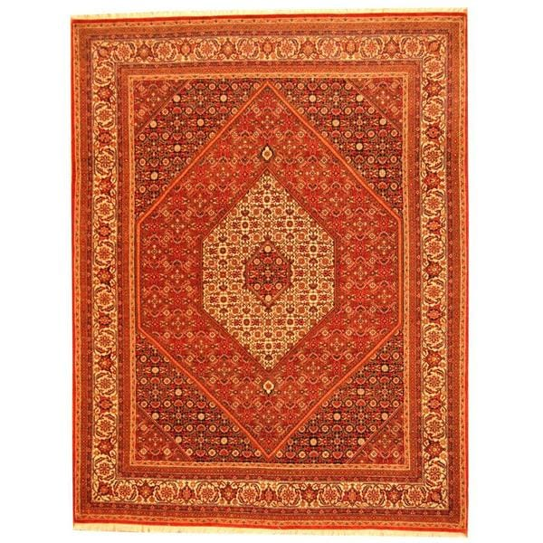 Herat Oriental Hand Tufted Wool Red Black Area Rug: Shop Herat Oriental Indo Hand-knotted Persian Bidjar