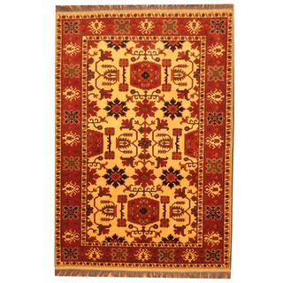 Herat Oriental Afghan Hand-knotted Khal Mohammadi Wool Rug (5'8 x 8'2)
