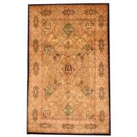 Handmade Herat Oriental Indo Persian Tabriz Design Wool Rug (India) - 5'10 x 9'4
