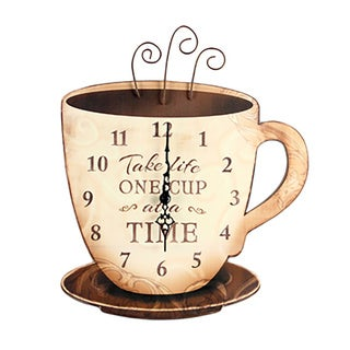 Wooden Coffee Wall Clock