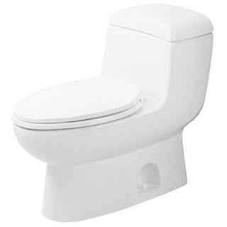 Duravit One-piece Toilet Metro White Het with Syphonic Jet Action Elongated Het/Gb White