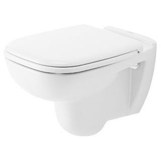 Duravit Toilet Wall-mounted 21.5-inch 54Cm D-code White Washdown Model White