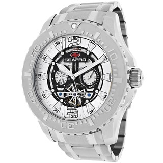 Seapro Men's SP3310 'Tidal PX1' Round Stainless Steel Skeleton Watch