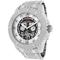 Seapro Men's  'Tidal PX1' Round Stainless Steel Skeleton Watch
