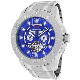 Seapro Men's SP3314 'Tidal PX1' Stainless Steel Silvertone Skeleton Watch