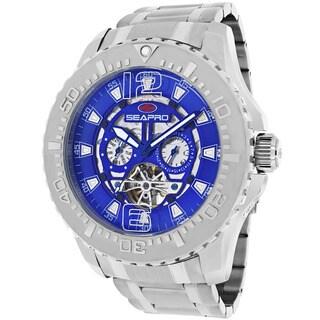Seapro Men's SP3314 'Tidal PX1' Stainless Steel Silvertone Skeleton Watch