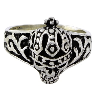 Sterling Silver Road King Skull Ring