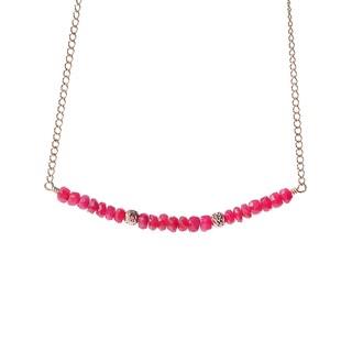 14k Goldfill July Birthstone Ruby Sparkle Beads Necklace