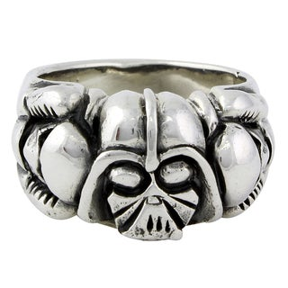 Sterling Silver Dark Side of the Force Darth Vader Skull Ring