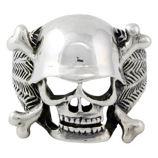 Sterling Silver Danger Vigilante Skull Ring