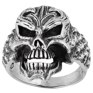 Sterling Silver Devil's Disciple Skull Ring