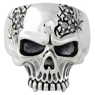 Sterling Silver Galloping Vampire Skull Ring