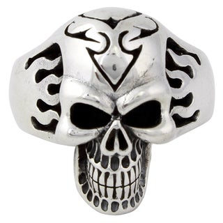 Sterling Silver HighWay Outlaw Skull Ring