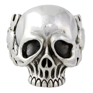 Sterling Silver Militia Mechanics Wrench Skull Ring