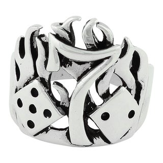 Sterling Silver Burning Number 7 Ring