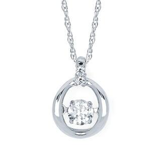 Boston Bay Diamonds 14k White Gold 1/6ct TDW Diamond Circle Pendant w/ Chain https://ak1.ostkcdn.com/images/products/9654279/P16836889.jpg?impolicy=medium