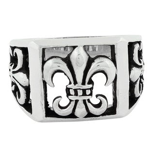 Sterling Silver Anarchist Fleur de Lis Ring