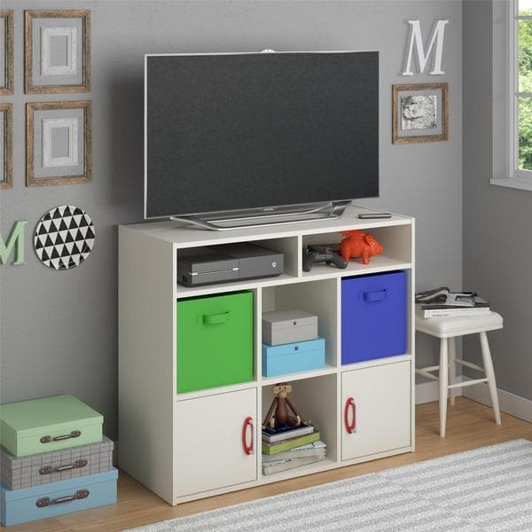 Ameriwood Home Lucerne Media Dresser With Fabric Bins