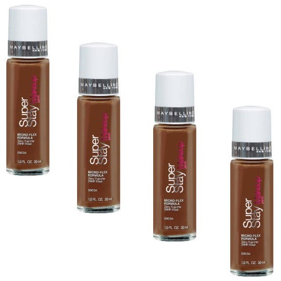 Maybelline Super Stay Make-up 24-hour Cocoa (Pack of 4) - Free ...