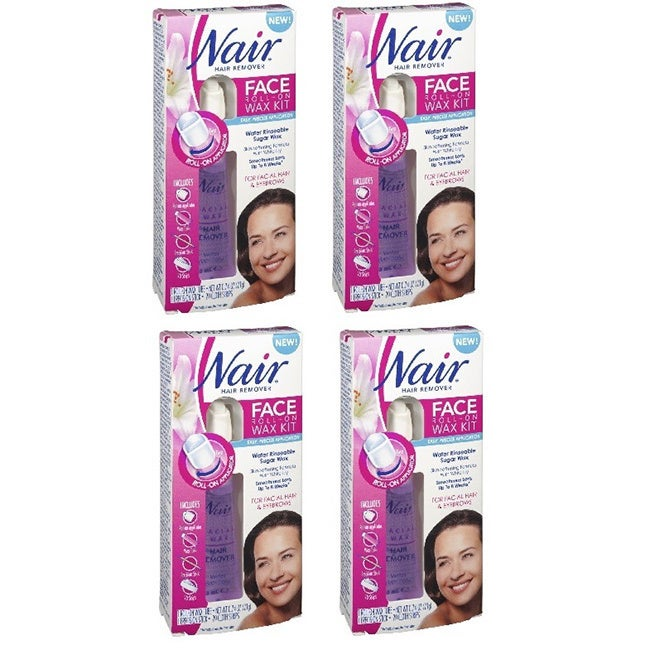 Shop Nair Hair Remover Face Roll On Wax Kit 20 Cloth Strips Pack