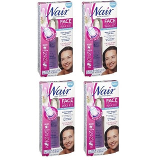 Nair Hair Remover Face Roll-on Wax Kit 20 Cloth Strips (Pack of 4)