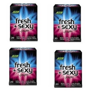 Playtex Fresh and Sexy 20-count Intimate Wipes (Pack of 4)