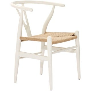 Weave Wishbone Style Y-Arm Chair