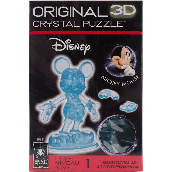 3D Crystal Puzzle - Mickey Mouse: 37 Pcs