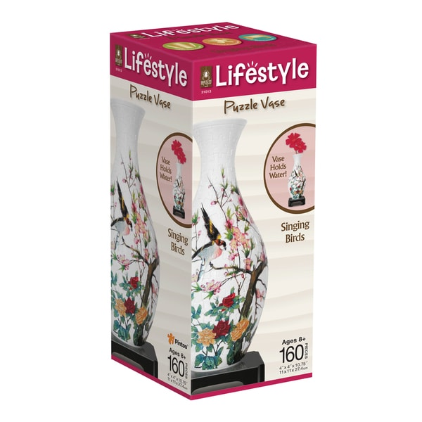 Lifestyle 3D Puzzle Vase - Singing Birds: 160 Pcs