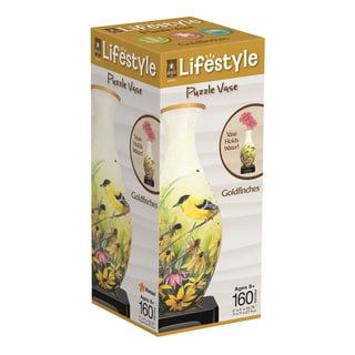 Lifestyle 3D Puzzle Vase - Goldfinches: 160 Pcs