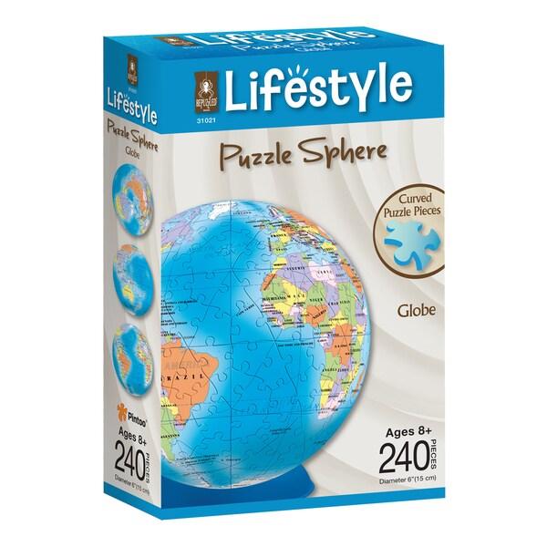Lifestyle 3D Puzzle Sphere - Globe: 240 Pcs