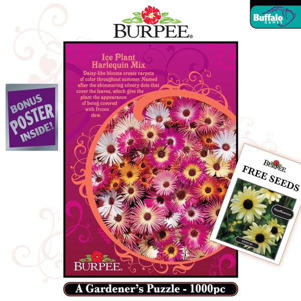 Burpee Seeds Ice Plant Harlequin Mix 1000-Piece Jigsaw Puzzle