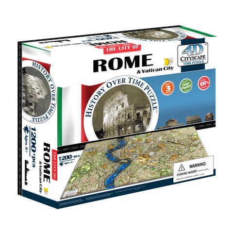4D Cityscape Time Puzzle - Rome, Italy