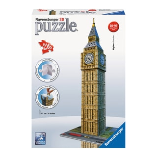 3D Puzzle - Big Ben: 216 Pcs