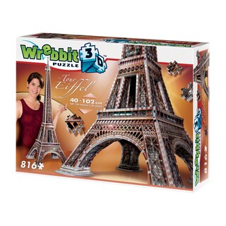 Eiffel Tower 3D Puzzle: 816 Pcs