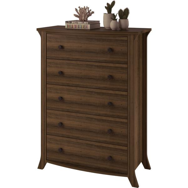 Real Ash Veneer with Oak Stain one size Oakridge Multi Drawer Chest