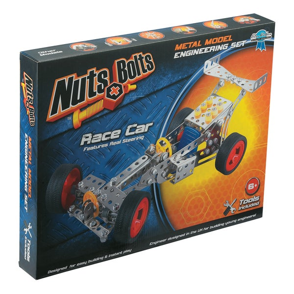 Nuts+Bolts - Metal Model Engineering Set: Race Car