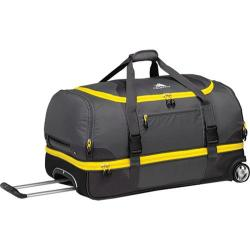 High Sierra Drop-Bottom Grey/Mercury/Black/Sunflower 28-inch Rolling Duffel Bag