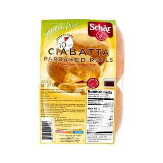 Schar Gluten-free Ciabatta Rolls (Case of 6)