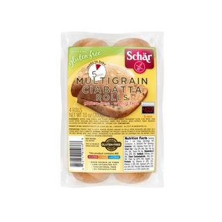 Schar Gluten-free Multigrain Ciabatta Parbaked Rolls (Case of 6)