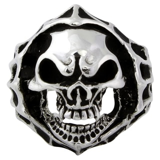 Sterling Silver Blood Hungry Skull Ring