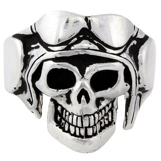 Sterling Silver Aerial Voyager Skull Ring