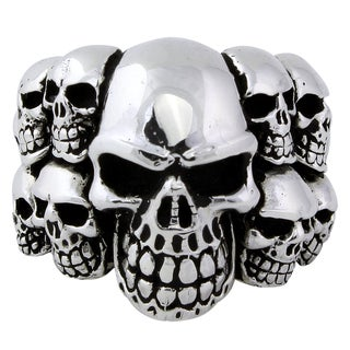 HellFire Sterling Silver Ninth Circle of Hell Skull Ring