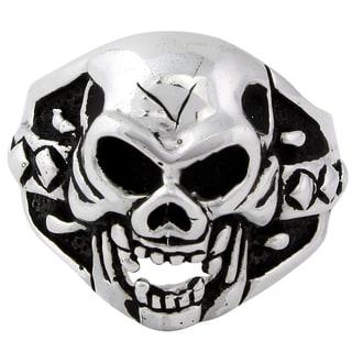HellFire Sterling Silver Sadist Skull Ring