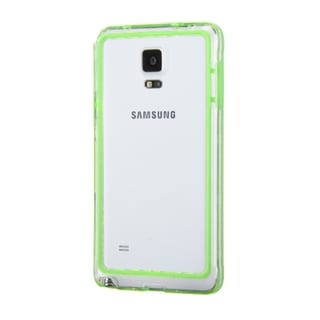 INSTEN Green/ Transparent Clear TPU Rubber Candy Skin Bumper Frame Phone Case Cover For Samsung Galaxy Note 4