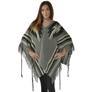 Leisureland Women's Acrylic Shawl Gray