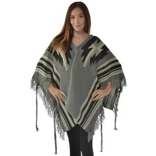 Leisureland Women's Acrylic Shawl Gray